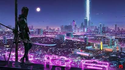 Cyberpunk Warrior Resolution Wallpapers 1440p 4k Futuristic