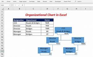 How To Create An Organizational Chart In Excel Xl N Cad