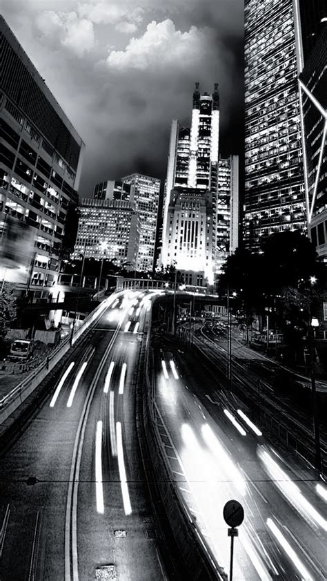 black  white city traffic  iphone wallpapers