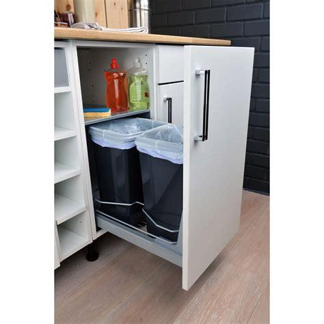 poubelle cuisine meuble cache poubelle cuisine maison design bahbe com