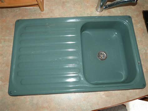 green kitchen sinks green kitchen enamel sink drainer caravan motorhome boats 1434