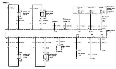 Mercury Stereo Wiring Diagram by Wiring Diagram For Factory Sub Mercurymarauder Net