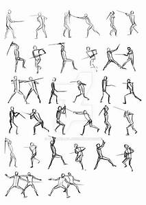 Sword Fighting Poses by annabelle-l.deviantart.com on ...