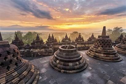 Java Borobudur Indonesia Temple Wisata Candi Tempat