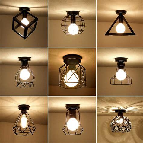 vintage ceiling lights iron black ceiling lamp retro cage