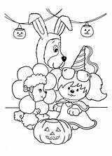 Party Coloring Poochie Halloween Pages Planned Planning sketch template