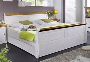 140x200 Bett Weiß : bett 140x200 kiefer massiv 2farbig wei gewachst honig ~ Pilothousefishingboats.com Haus und Dekorationen