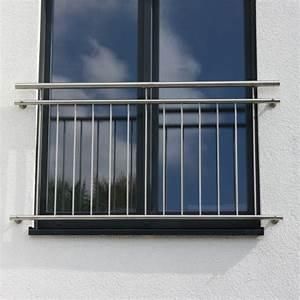 edelstahl fenstergitter franzosischer balkon r line With französischer balkon mit schieferplatten garten preis