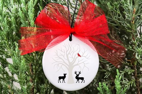 Browse our christmas tree images, graphics, and designs from +79.322 free vectors graphics. Christmas Cardinal Tree Deer SVG DXF cut fi (151350) | Cut ...