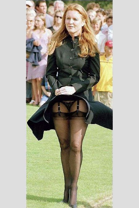 SARAH FERGUSON A Royal Black Panty Upskirt Shot Is Boring, So We Made You Sexier on ...