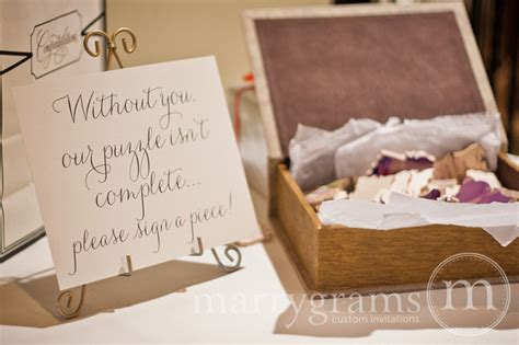 Alternative Guest Book Puzzle Sign Wedding Reception Seating