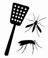 Fly Swatter Vector Silhouette Swatting Clip Illustrations Destruction Mosquitos Tool Similar sketch template