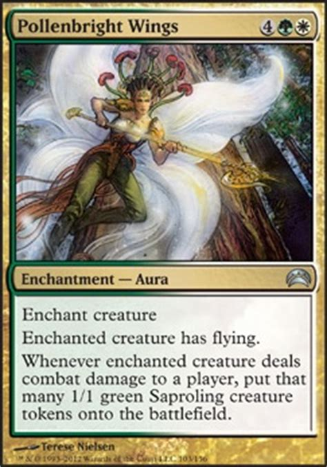 Green White Token Deck by Pollenbright Wings Mtg Card