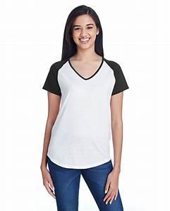 Anvil 6770vl Ladies Tri Blend Raglan T Shirt