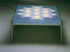 Coffee table with light op tisch by draenert design for Op tisch