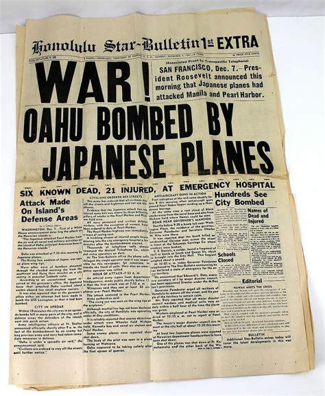 Boating License Oahu by Wwii Honolulu Bulletin Newspaper 1941 Oahu Bombed