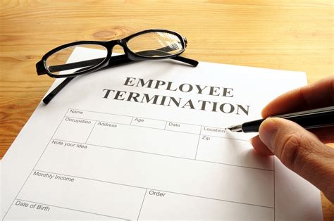 employee termination termination of employment letter