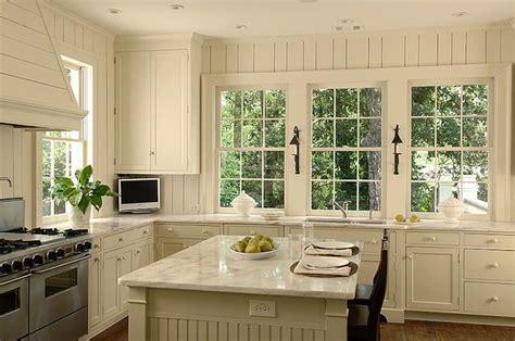 white beadboard kitchen cabinets beadboard kitchen island cottage kitchen litchfield
