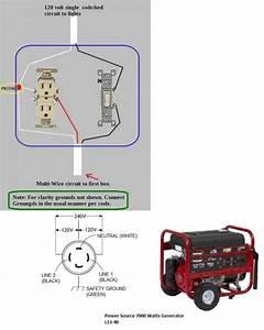 Portable Generator Wiring Help