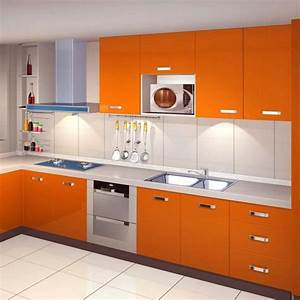 Perfect kinlo mm papier peint autoadhsif orange pour for Kitchen colors with white cabinets with plier papier