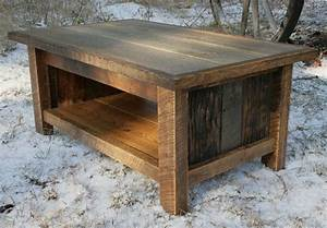 Hand crafted rustic reclaimed coffee table by echo peak for Rustic outdoor wood coffee table