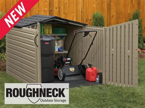 Rubbermaid Roughneck Modular Slide Lid Storage Shed by Pin By Susan Mcfadden On Outdoors