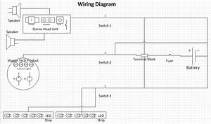My Custom Cooler Radio  Wiring Diagram