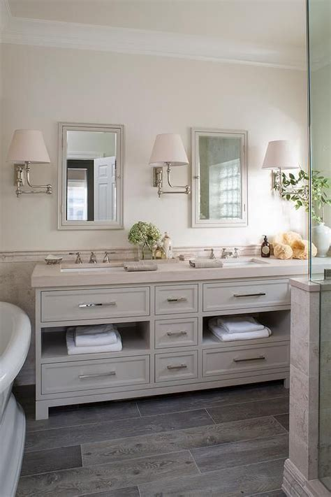 Colored Bathroom by And Gray Bathroom Features Top Half Of Walls Painted