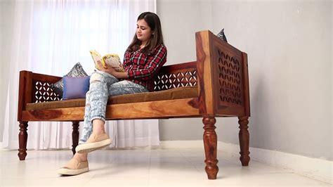 divans angelica divan sofa   india  wooden street youtube