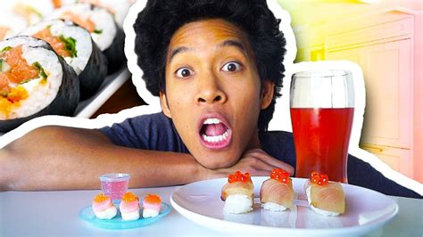 Candy Sushi Vs. Real Sushi!!!