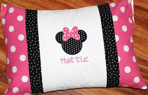 minnie mouse pillow or boys personalized minnie or mickey mouse pillowcase