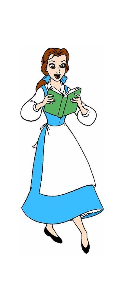 Belle Disney Princess Clipart Beast Beauty Cartoon