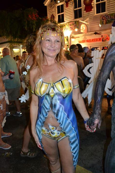 key west  fantasy fest fantasy fest woman painting