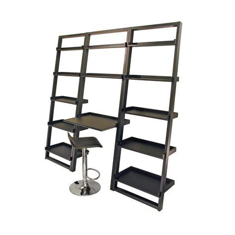black computer desk with shelves wall shelves desk office furniture