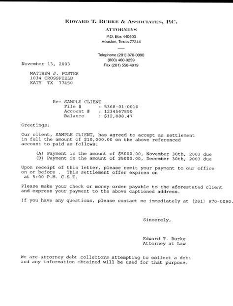 7+ settlement offer letter | Marital Settlements Information