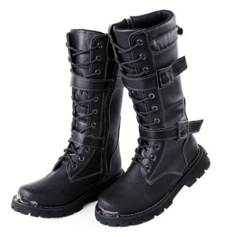 New Winter Boots Men Middle Tube Fashion Punk Mens