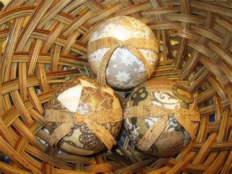 Vintage Keys And Wood Decorative Spheres Decoupage Orbs With