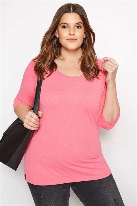 Rundhalsshirt  Pink, Große Größen 4468