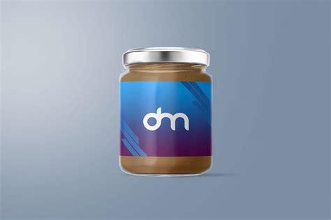 Psd   12 mb rar. Peanut Butter Glass Jar Mockup   Download Mockup