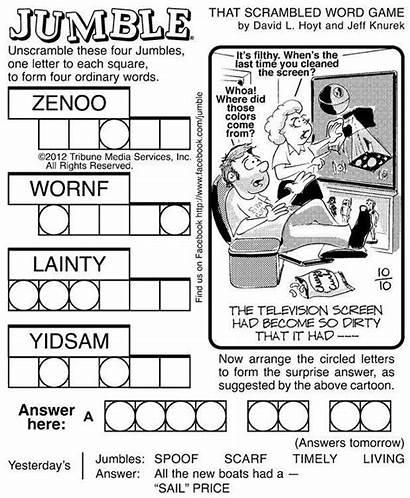 Jumble Puzzles Word Puzzle Printable Jumbles Adults