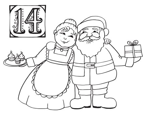 Santa And Mrs Claus Coloring Pages Download