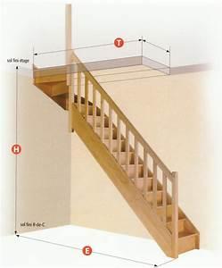 Escalier Quart Tournant Haut Droit : escaliers escaliers standards menuisor ~ Dailycaller-alerts.com Idées de Décoration