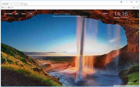 Fall Chrome Backgrounds by Waterfall Wallpaper Nature New Tab Themes Hd Wallpapers