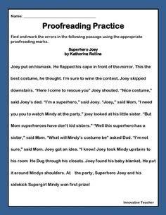 editing and proofreading worksheet sle education teaching writing school worksheets