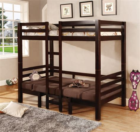 27441 bunk bed convertible bunks cappuccino convertible table w seating