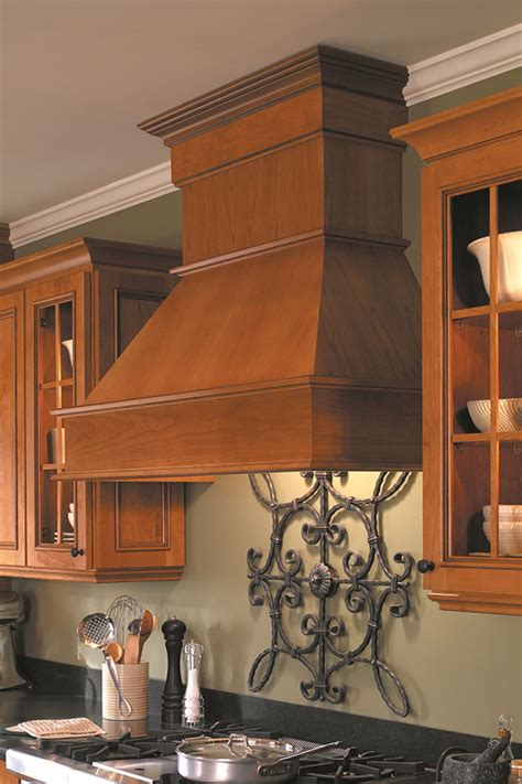 wood hood canopy homecrest cabinetry