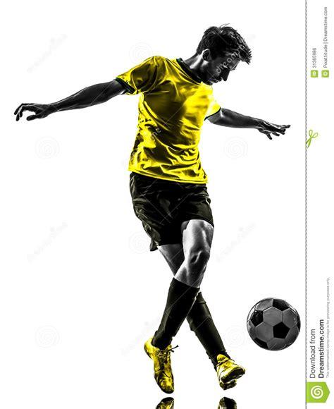 brazilian soccer football player young man dribbling