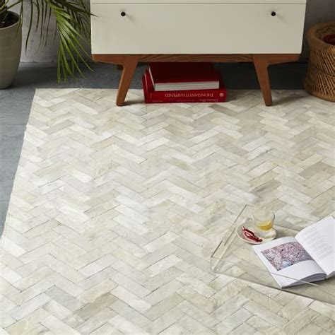 Chevron Cowhide Rug by Pieced Patched Cowhide Rug Chevron West Elm