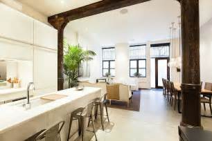 space saving ideas for kitchens loft style apartment in new york