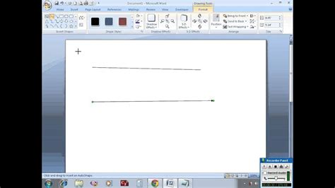 draw horizontal vertical lines  ms word youtube